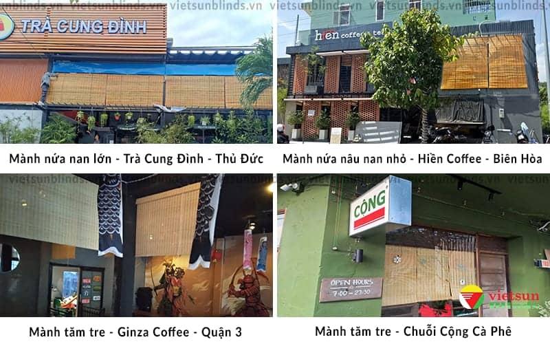 Việt Sun lắp mành tre trúc tại Quán cà phê