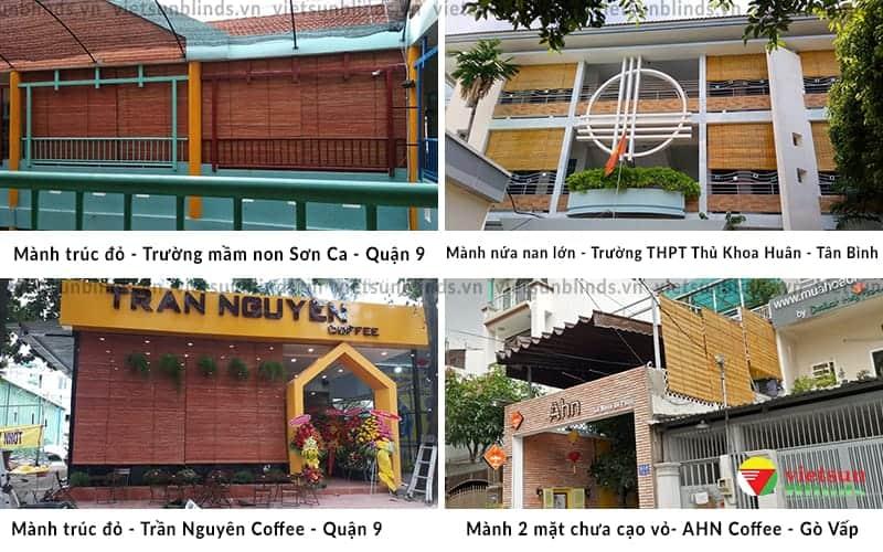 Việt Sun lắp mành tre trúc tại Trường học - Quán cà phê - Khu du lịch