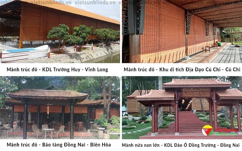 Việt Sun lắp mành tre trúc tại Khu du lịch